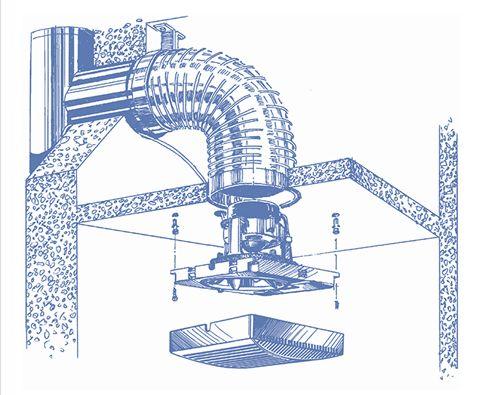 Tecnologia Elettronica Aspiratore Vortice Per Bagno