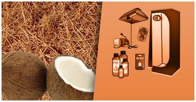 kit con Substrato di Cocco + Grow Room Completi