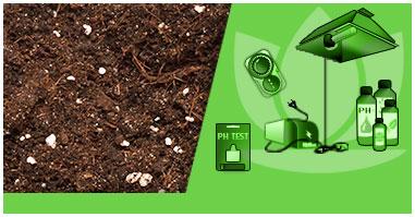 I Nostri Kit per Coltivare Indoor con Terriccio e Vasi