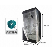 SilverBox V3 in Mylar 100x100x200 cm - Grow Box Per Coltivare Indoor - 1 Mq