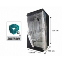 SilverBox V3 in Mylar 150x150x200 cm - Grow Box Per Coltivazione Indoor - 2,25 Mq