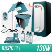 Kit Indoor Idroponica CFL 125W + Grow Box Allestita