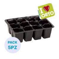 Semenzaio in plastica di Verdemax - I LOVE ORTO - 12 cellette