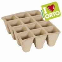Semenzaio biodegradabile di Verdemax  - I LOVE ORTO  - 12 celle