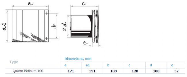 Aspiratore da bagno blauberg quatro platinum 100 88 m3 - Estrattore bagno vortice ...