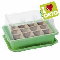 Miniserra con semenzaio biodegradabile di Verdemax - I LOVE ORTO -  12 celle