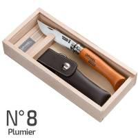Opinel N°8 Plumier - Coltello Carbon con Custodia