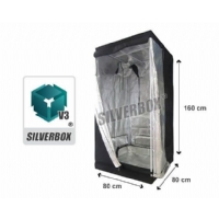 SilverBox V3 in Mylar 80x80x160 cm - Grow Box Da Coltivazione Indoor - 0,6 Mq