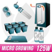 MICRO GROWING KIT Terra 125W CFL + Grow Box - Micro Growing