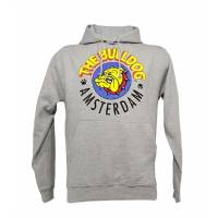 The Bulldog - Felpa Cappuccio Grigia Logo Originale XL