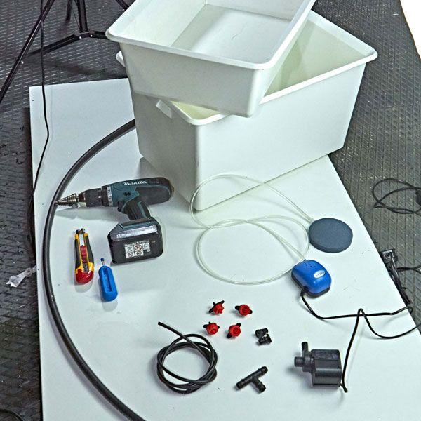 Come costruire un sistema idroponico attivo a goccia fai for Sistema irrigazione fai da te