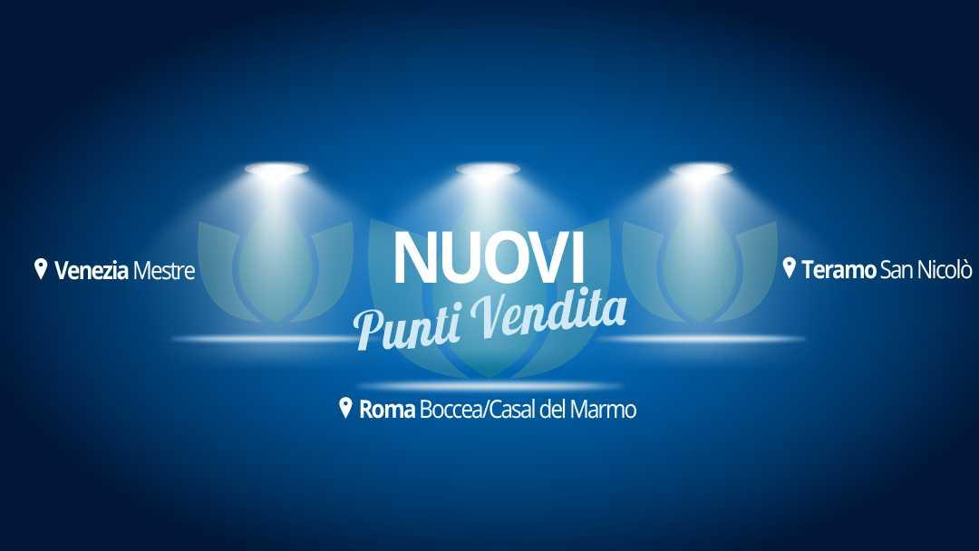Nuovi punti vendita idroponica a Roma Boccea, Venezia Mestre, Teramo