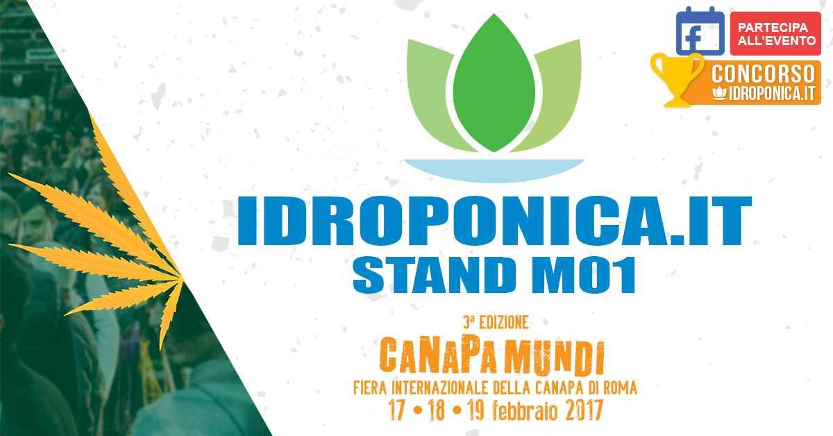 Idroponica espositore a Canapa Mundi 2017