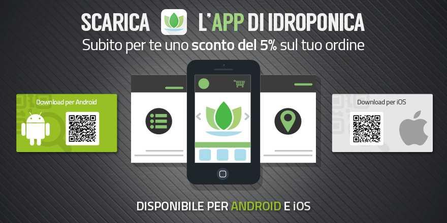 Idroponica, tutto il catalogo e le offerte in una sola App