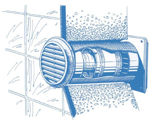 Blauberg decor 100s griglia di aerazione a muro for Areazione cucina
