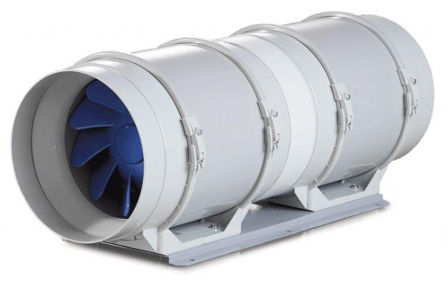 Aspiratore aria estrattore d 39 aria blauberg bi turbo 20cm - Estrattore aria bagno ...