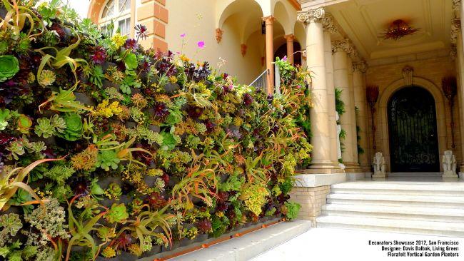 verde verticale moduli da 4 tasche - giardino pensile - Piante Per Giardini Verticali