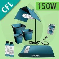 Kit Coltivazione Indoor Terra 150w - CFL