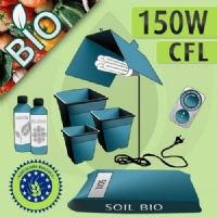 Kit Coltivazione Indoor Biologico Terra 150w - CFL