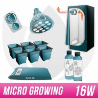 Kit Micro Growing GrowBox 40x40x120 + PAR38 Led Agro