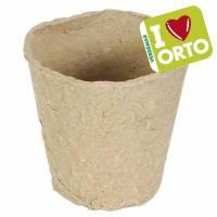 Vasetto tondo biodegradabile di Verdemax - I LOVE ORTO - Øcm6 x h5,5