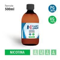 NicDrip - Base da 500ml - Nicotina 6mg/ml