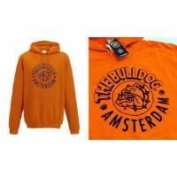 The Bulldog - Felpa Capuccio Arancione Logo - S