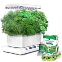 Aerogarden Miracle-Gro Harvest Led White + Kit di Erbe da Gourmet