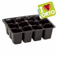 Semenzaio in plastica di Verdemax - I LOVE ORTO - 12 cellette