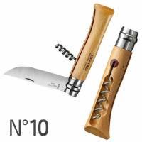 Opinel N°10 Coltello Inox con Cavatappi