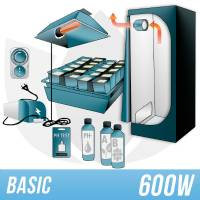 Kit Indoor Idroponica 600w + Grow Box - BASIC