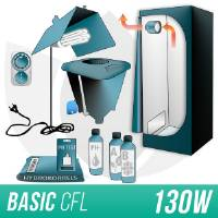 Kit Indoor Idroponica CFL 125W + Grow Box Allestita