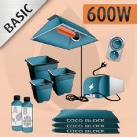 Kit Coltivazione Indoor Cocco 600w - BASIC