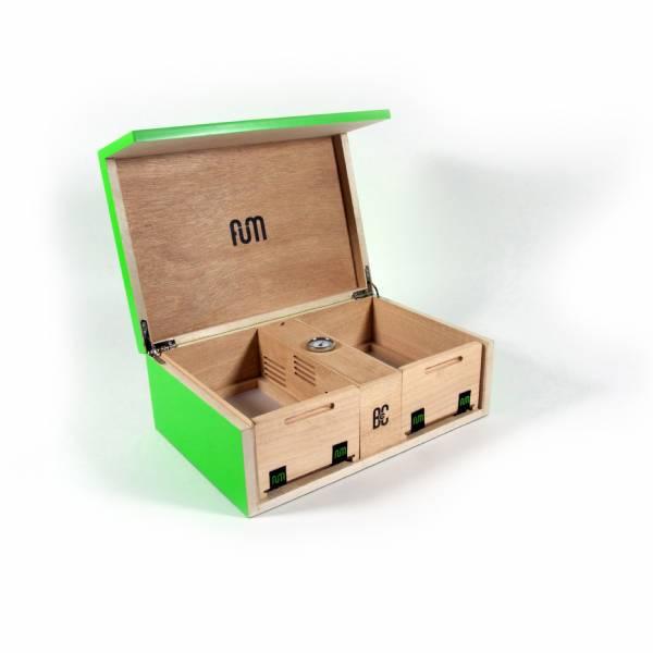 Fum box large scatola da tavolo con umidificatore verde - Scatola portafrutti da tavolo ...
