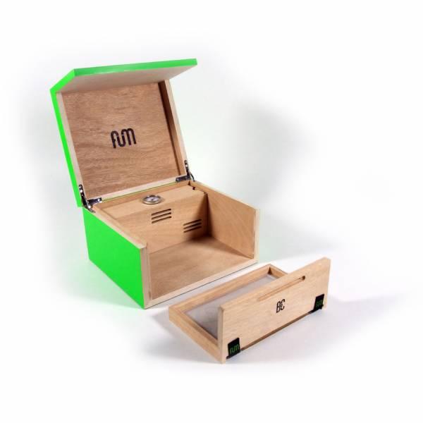 Fum box small scatola da tavolo con umidificatore verde - Scatola portafrutti da tavolo ...