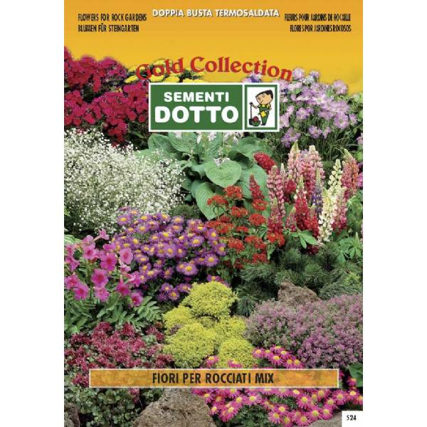Linea fiori gold mix di fiori per giardini rocciosi for Semi di fiori