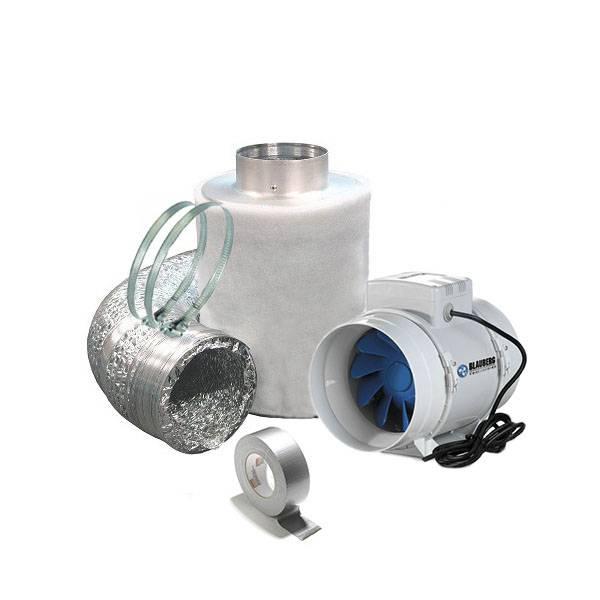 Kit aspirazione aria filtro a carboni anti odore 10cm for Ventola aspirazione bagno